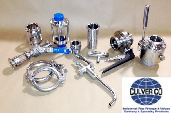 Culver Valves, FIttings, and Clamps, Samples